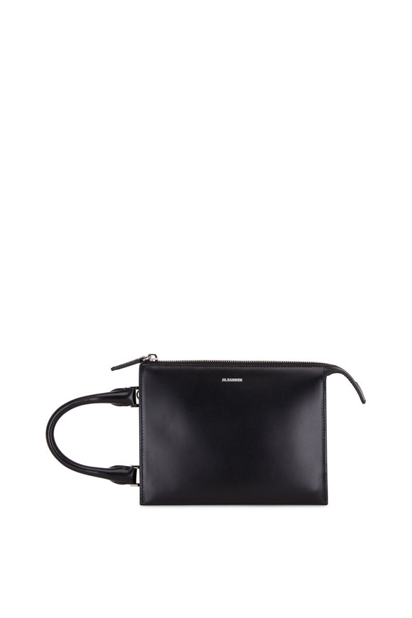 Jil Sander Tootie Black Leather Mini Top Handle Crossbody