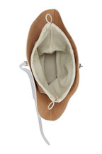 Jil Sander - Sombrero White Leather Small Shoulder Bag