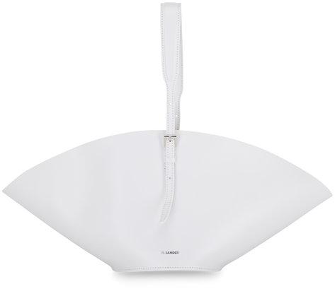 Jil Sander Sombrero White Leather Small Shoulder Bag