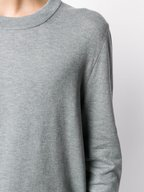 Maison Margiela - Heather Gray Suede Elbow Patch Pullover