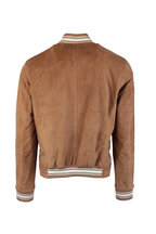 Kiton - Brown Suede Bomber Jacket