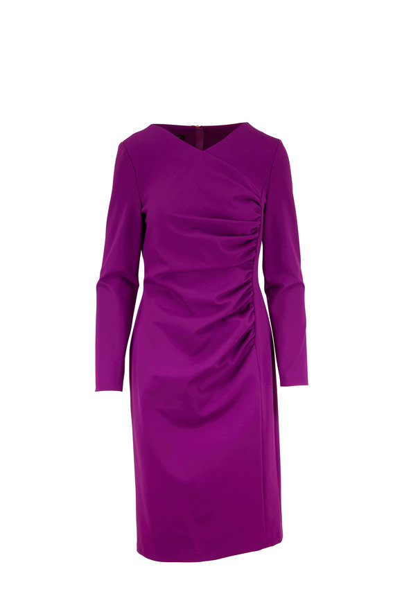Escada Diasa Holi Ruched Long Sleeve Dress