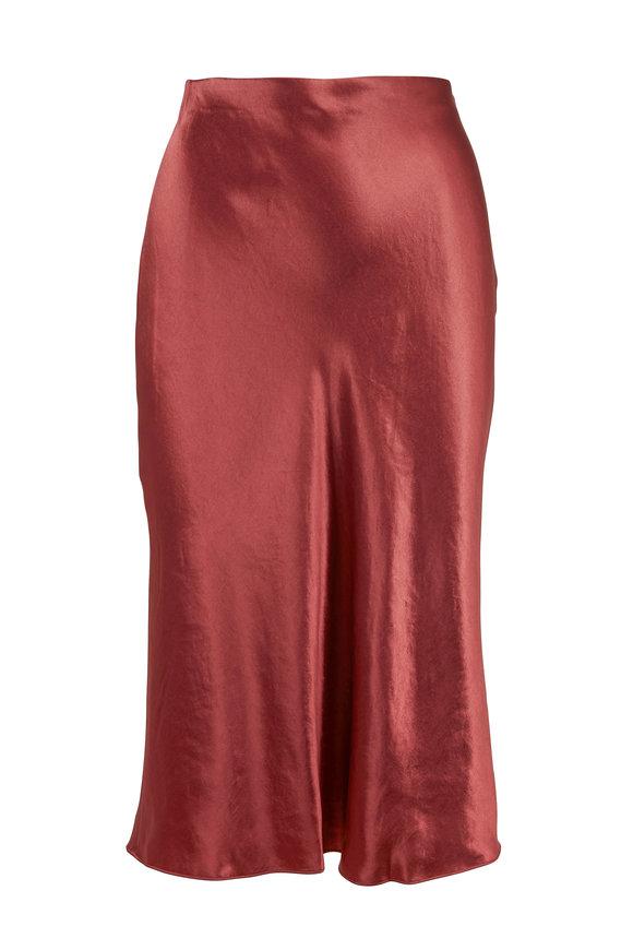 Vince Rosewood Satin Slip Skirt