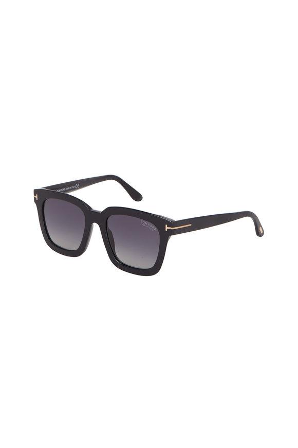 Tom Ford Eyewear Sari Black Polarized Sunglasses