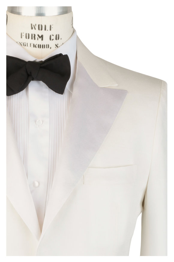 Kiton White Silk Dinner Jacket