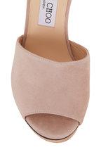 Jimmy Choo - Deedee Ballet Pink Suede Platform Sandal, 125mm