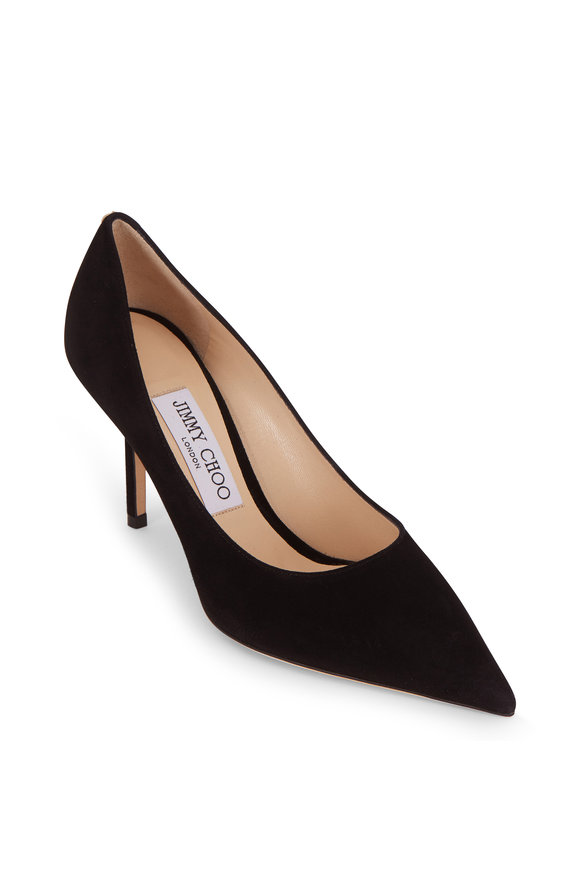 Jimmy Choo Love Black Suede Pointed Pump, 85mm