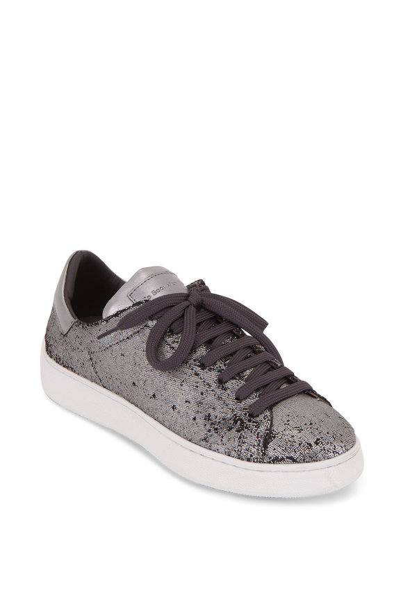 To Boot New York Women Alexis Silver Metallic Paillettes Sneaker