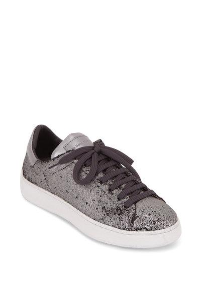 To Boot New York Women - Alexis Silver Metallic Paillettes Sneaker