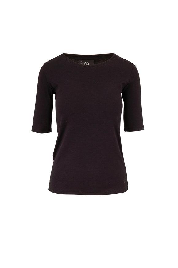 Bogner Velvet Black Elbow Sleeve T-Shirt