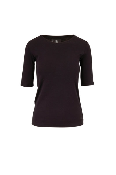 Bogner - Velvet Black Elbow Sleeve T-Shirt