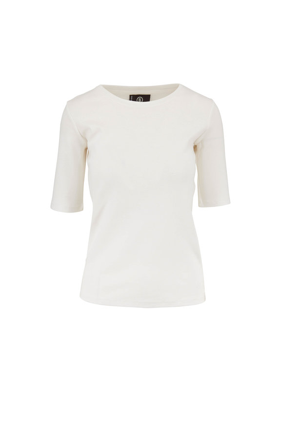 Bogner Velvet White Elbow Sleeve T-Shirt