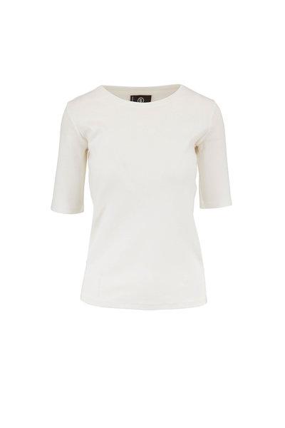 Bogner - Velvet White Elbow Sleeve T-Shirt