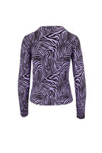 Andamane - Lilac Zebra Print Long Sleeve Top