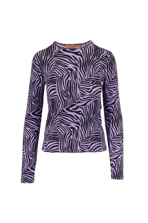 Andamane Lilac Zebra Print Long Sleeve Top