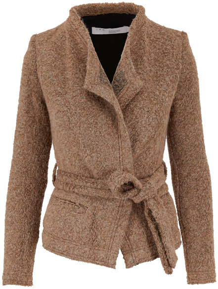 IRO Iquitos Light Brown Belted Jacket