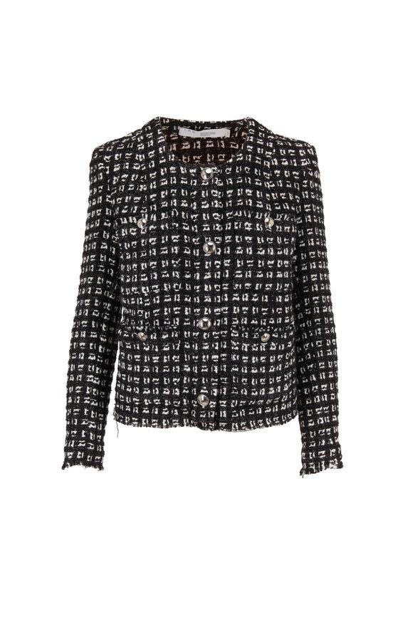 IRO Tetys Black & White Check Tweed Jacket