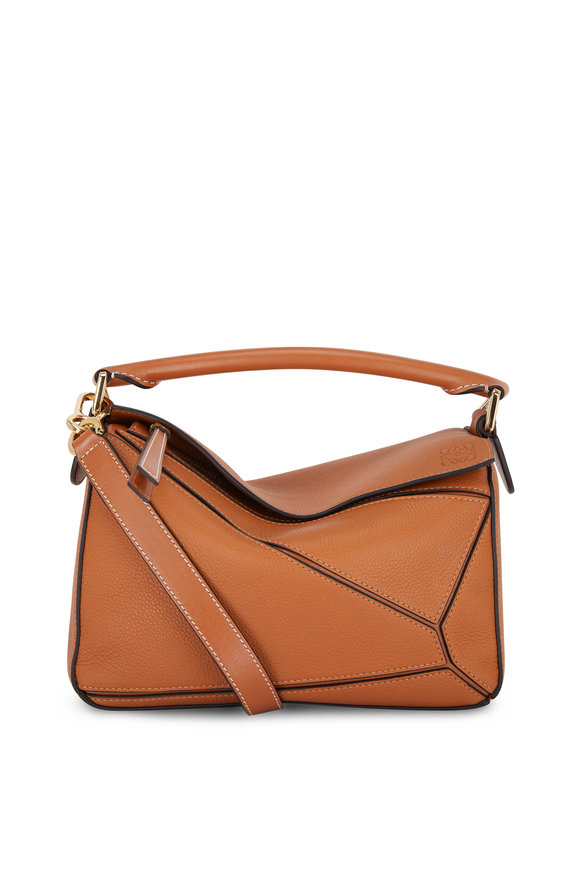 Loewe Puzzle Light Caramel Leather Small Top Handle Bag
