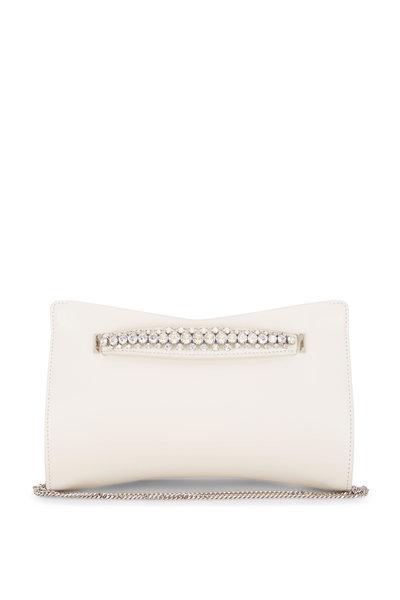 Jimmy Choo - Venus Latte Leather Crystal Bracelet Clutch
