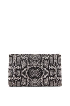 Judith Leiber Couture - Fizzoni Silver & Black Snake Crystal Clutch