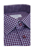 Eton - Purple Gingham Contemporary Fit Sport Shirt
