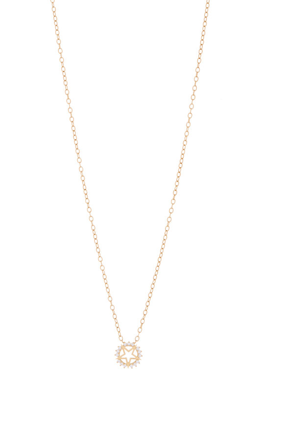 Nouvel Heritage 18K Yellow Gold Mystic Diamond Star Necklace