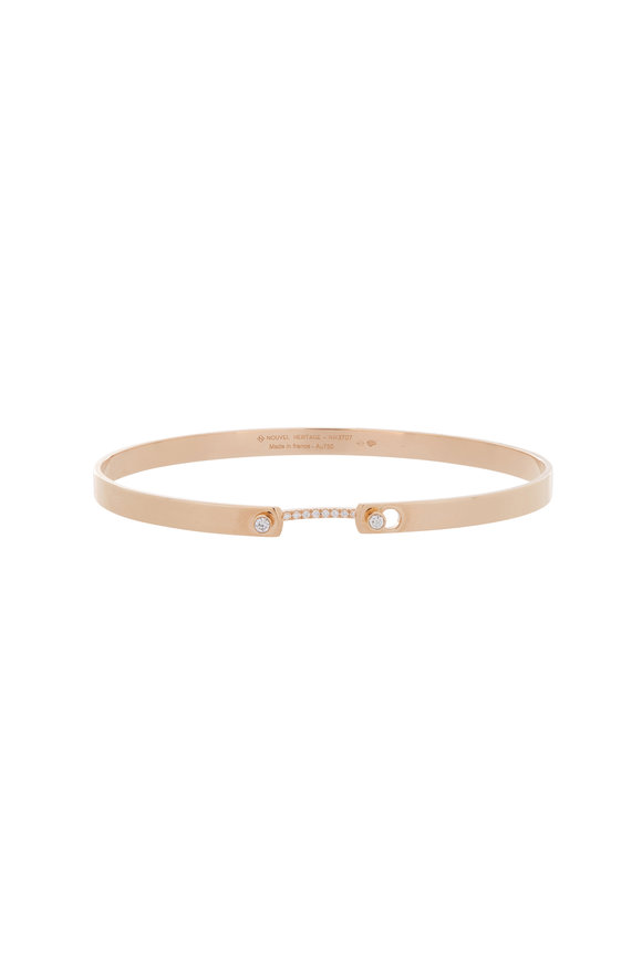 Nouvel Heritage 18K Rose Gold Mood Diamond Bangle