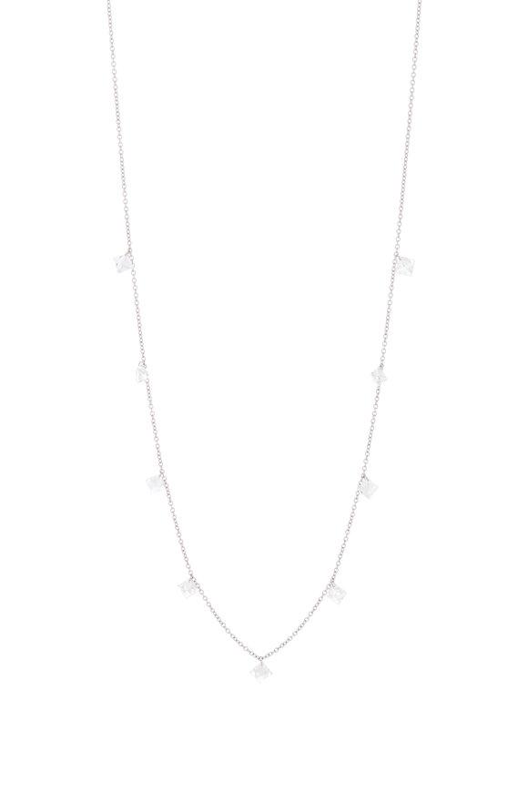 Paul Morelli Platinum Floating Diamond Necklace