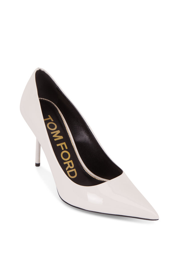 Tom Ford TF Chalk Patent Leather Pump, 85mm