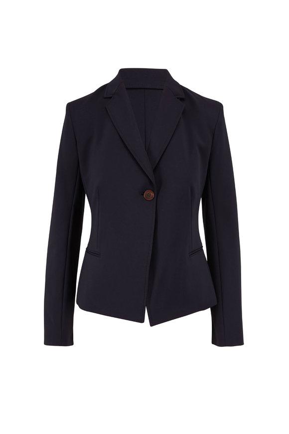 The Row Emi Dark Navy Single Button Jacket