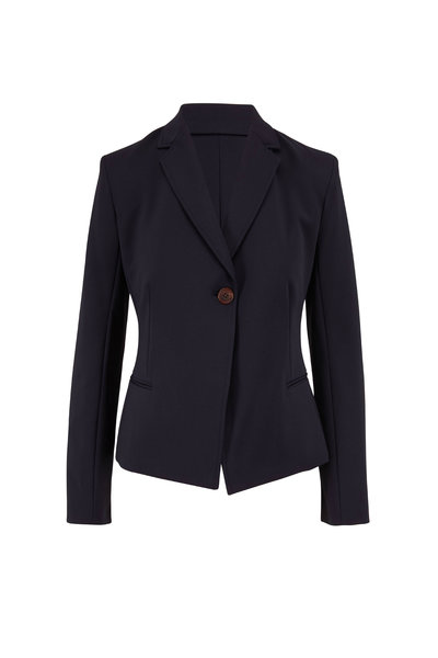 The Row - Emi Dark Navy Single Button Jacket