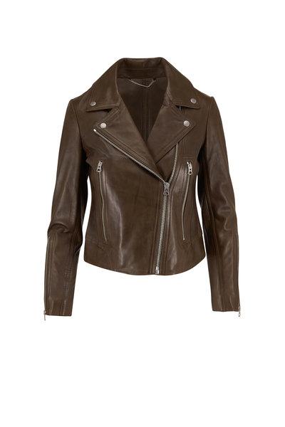 Rag & Bone - Mack Olive Leather Moto Jacket