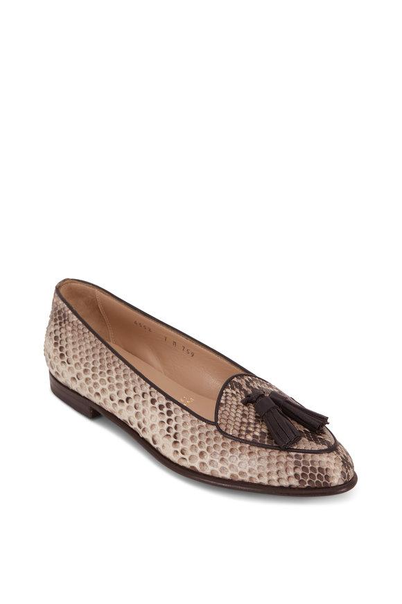 Gravati Natural Roccia Python Tassel Loafer