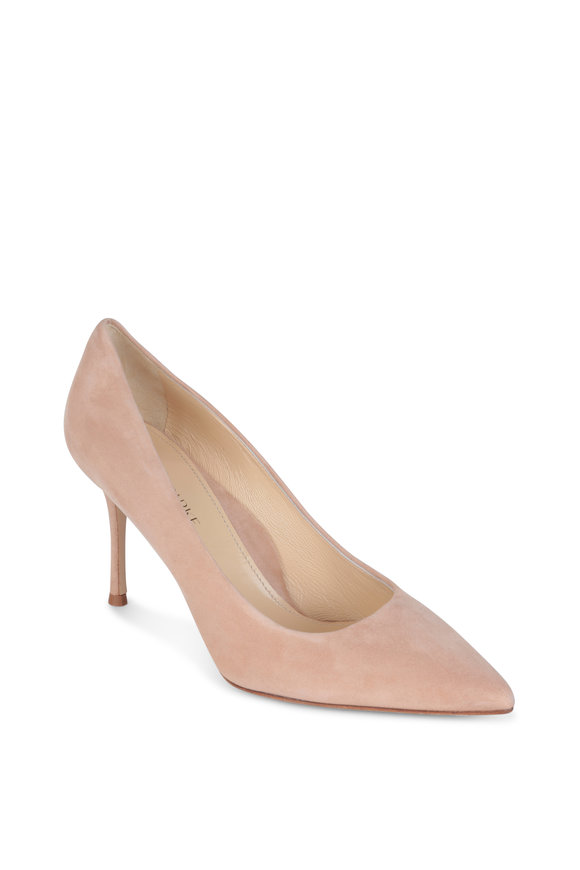Marion Parke Buff Suede Pointed Toe Pump, 85mm