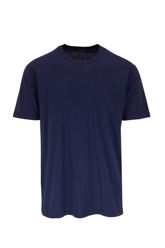 Kiton Navy Short Sleeve T-Shirt