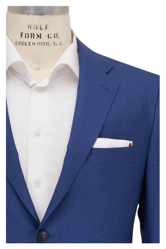 Kiton Blue 14 Micron Wool Suit