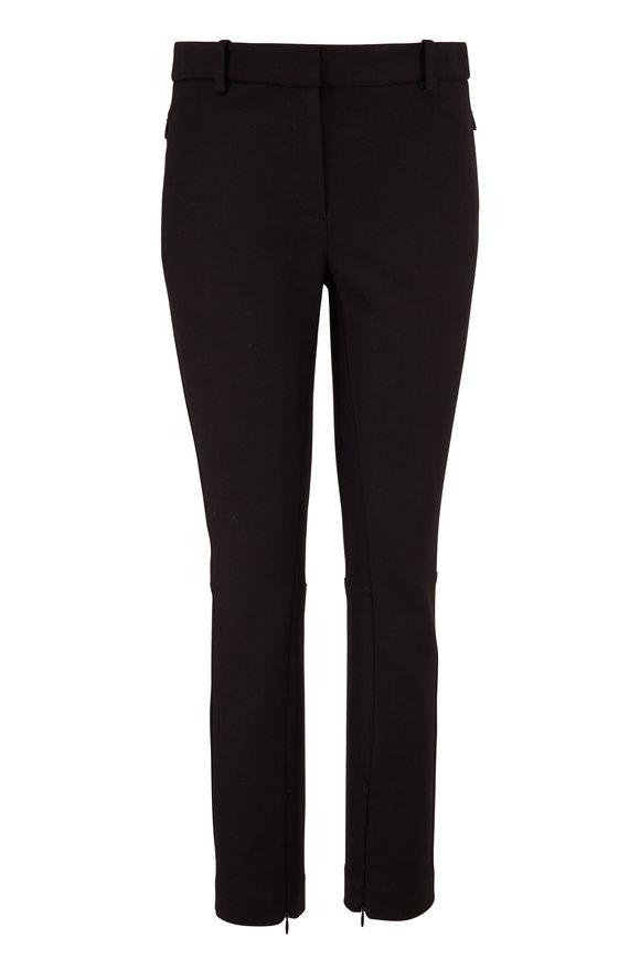 The Row Jodphur Black Stretch Cotton Zip Cuff Pant