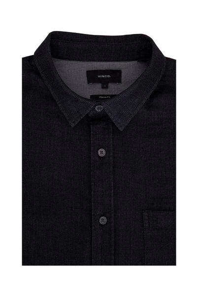 Vince - Black Double-Faced Jacquard Sport Shirt