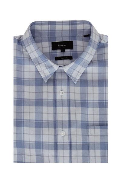 Vince - Infinity Blue Plaid Sport Shirt
