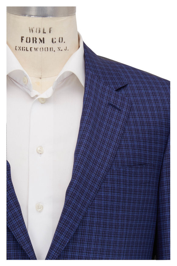 Canali Blue Check Wool Sportcoat