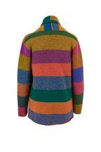 The Elder Statesman - Italy Multicolor Block Cashmere Smoking Jacket