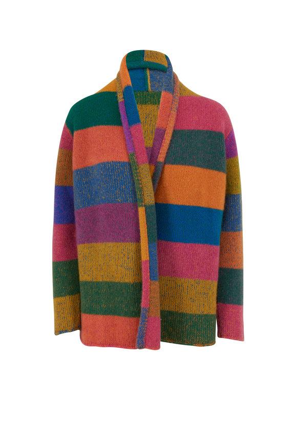 The Elder Statesman Italy Multicolor Block Cashmere Smoking Jacket