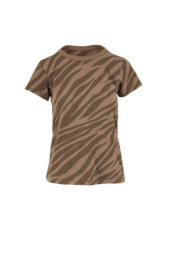 Rag & Bone All Over Zebra Army Green T-Shirt
