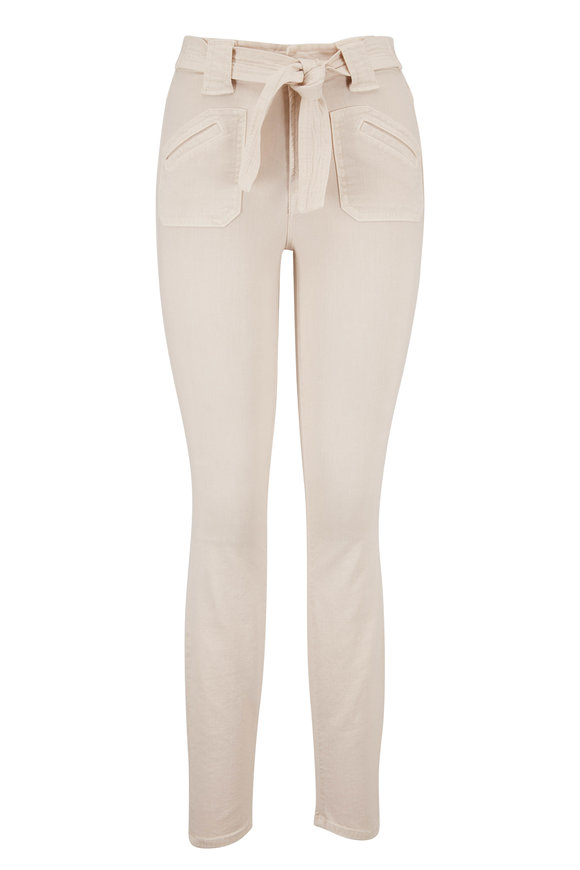 Mother Denim The Looker Ivory Tie Patch Jean