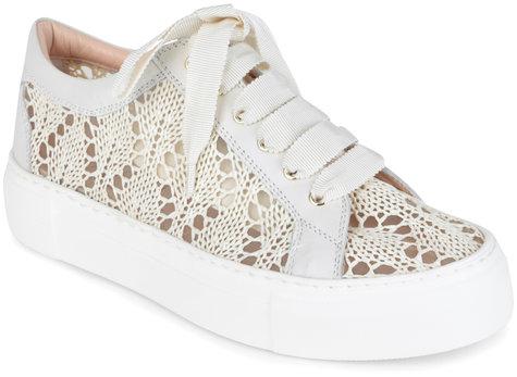 AGL Off-White Crochet Sneaker
