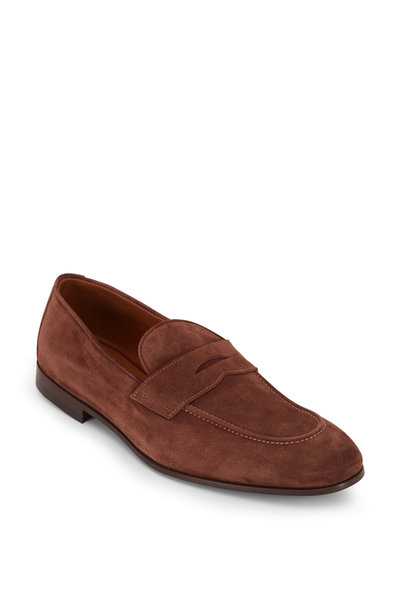 Brunello Cucinelli - Brown Suede Soft Penny Loafer