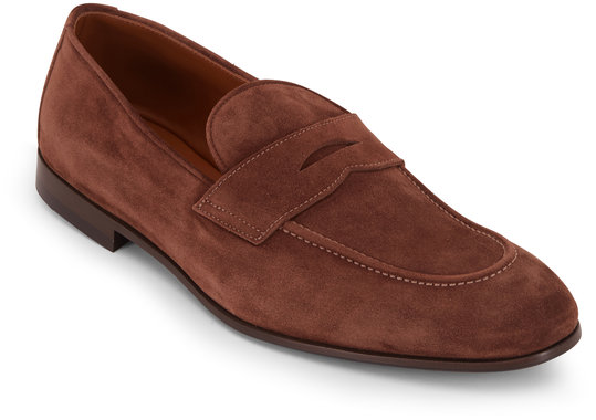 Brunello Cucinelli Brown Suede Soft Penny Loafer