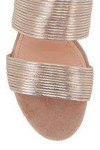 AGL - Gold Multi-Band Block Heel Mule, 50mm
