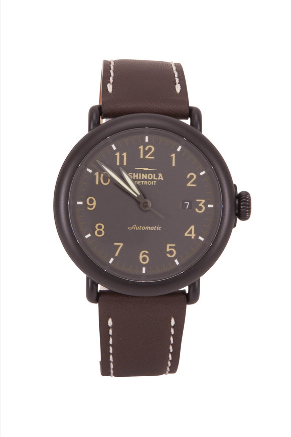 Shinola Runwell Black Automatic Watch, 45mm