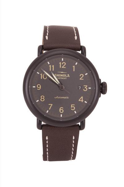 Shinola - Runwell Black Automatic Watch, 45mm